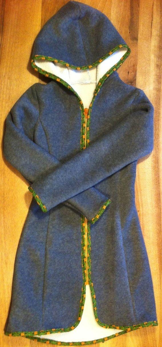 for Nina, fleece with Shwe-shwe borders