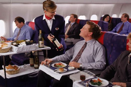 When airlines actually served you food from rolling carts. Now they serve you 9 pretzels and call it a day.