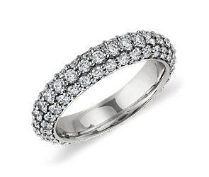 Starlight Pavé Diamond Eternity Ring in Platinum (1 3/4 ct. tw.)