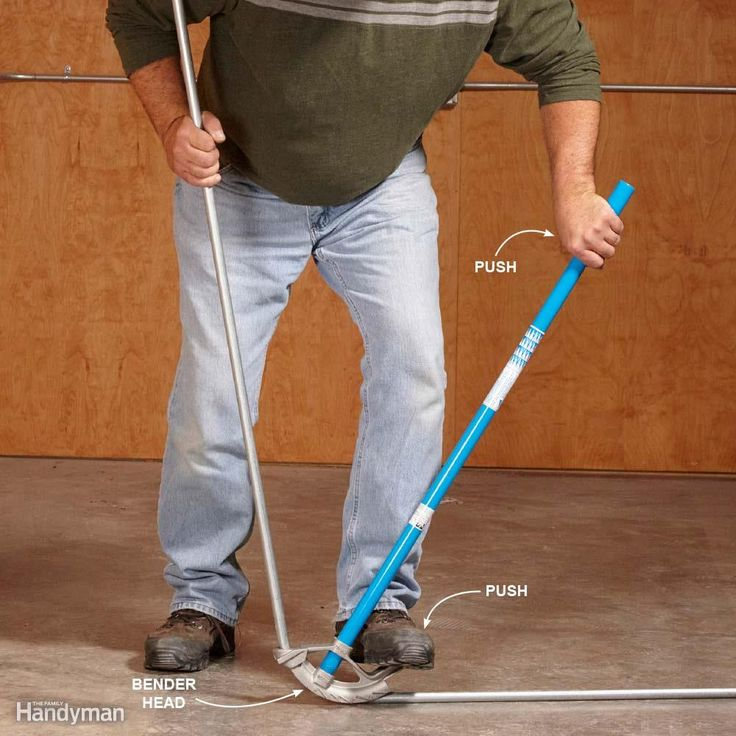 Use Your Foot - It's obvious that you have to pull and then push on the handle of the bender to bend the conduit. But you also have to step on the footpad. While pulling or pushing the handle, put equal pressure downward on the bender head with your foot. This prevents the bender from creeping along the conduit and resulting in a bend that's too long. By the way, bender heads are diameter-specific. Match the bender to the diameter of the EMT you're using.