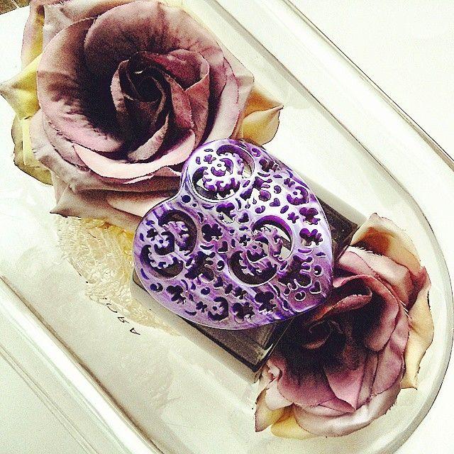Bracciale cuore, shop on line, made in Italy fashion jewelry, bracelet, cuff, purple, viola, bijoux, rosa velvet on line boutique
