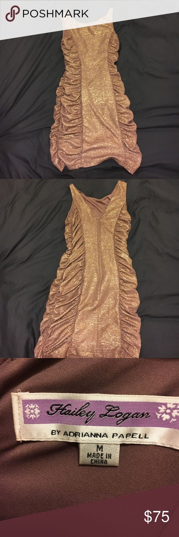 Sexy Metallic Bodycon Dress (M) Perfect for a night out! Adrianna Papell Dresses Mini