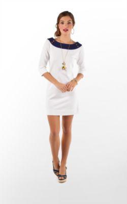 Cassie Dress in Resort White