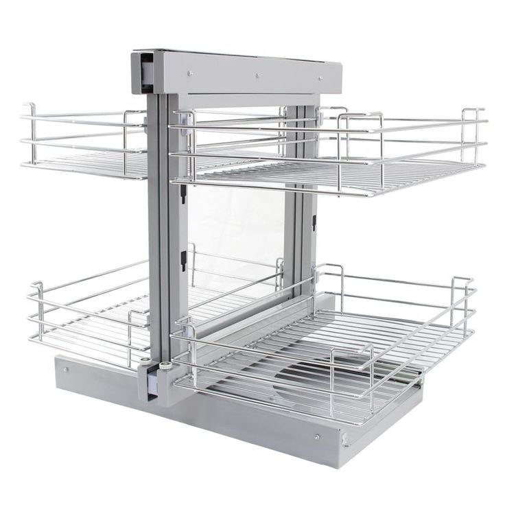 Kitchen Pull Out Basket Home Wire Cabinet Storage Cupboard Left Hand Organizer #KitchenPullOutBasket
