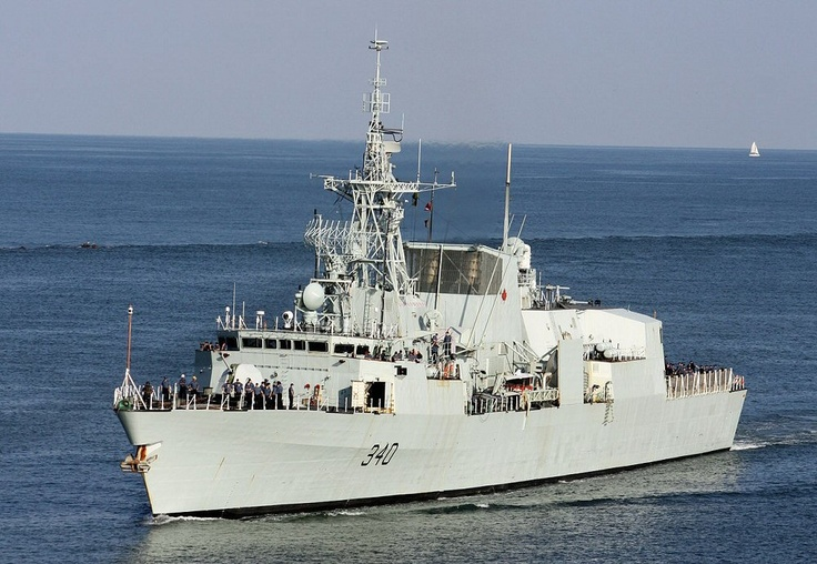 HMCS St. John's (FFH 340) is a Halifax-class frigate that has served in the Royal Canadian Navy since her commissioning in 1996. She was laid down on 24 August 1994 at Saint John Shipbuilding Ltd., Saint John, New Brunswick, and launched on 26 August 1995. She was officially commissioned into the CF on 26 June 1996 in St. John's, and carries the hull classification symbol 340. She is assigned to Maritime Forces Atlantic (MARLANT) and her homeport is in Halifax, Nova Scotia.