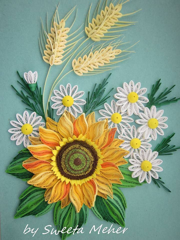 Beautiful QuiLLed SuNFLoWER