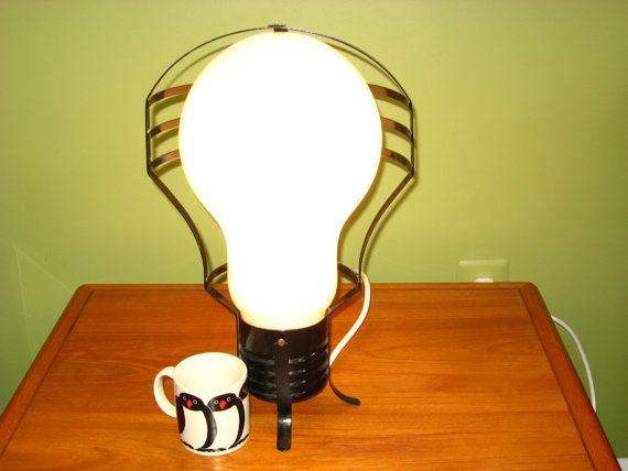 Pop Art Giant Light Bulb Lamp 18.5  Industrial by ModandMore, $134.95