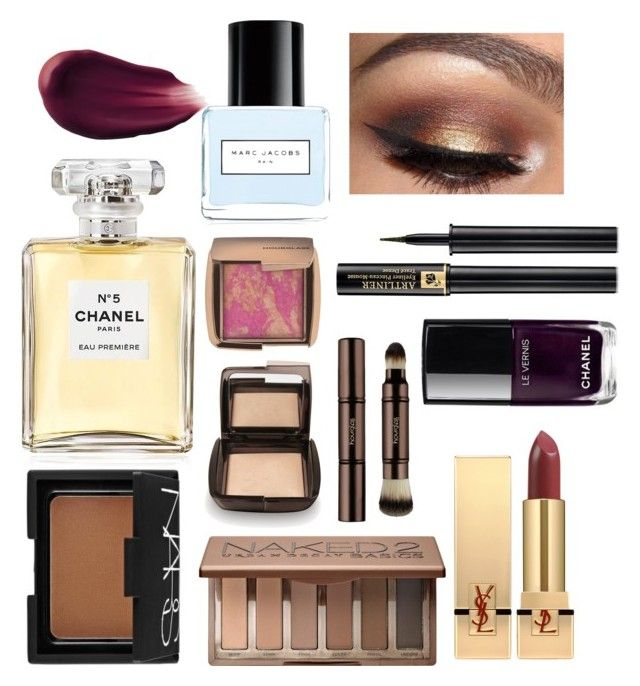 Deep and Dark winter makeup by marnietaylor on Polyvore featuring polyvore, beauty, Urban Decay, NARS Cosmetics, Lancôme, Yves Saint Laurent, Hourglass Cosmetics, Chanel and Marc Jacobs