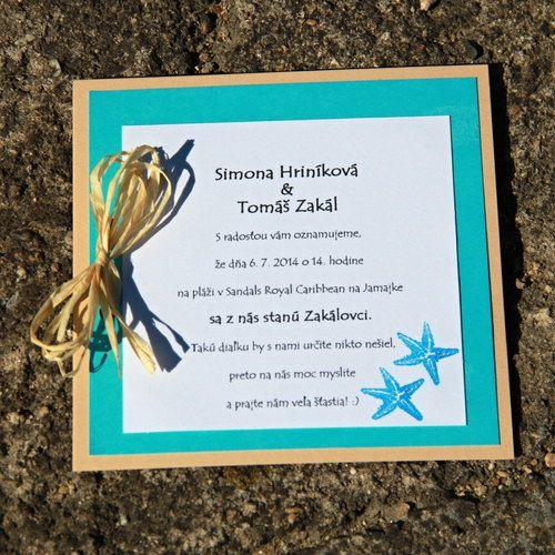 Svatba u moře s obálkou