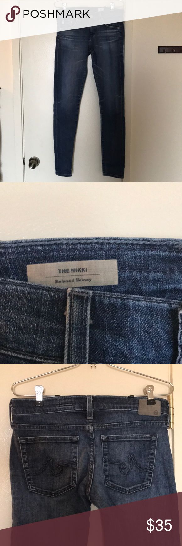 AG Adriano Goldschmied Nikki Relaxed Skinny SZ 27R AG Adriano Goldschmied Nikki Relaxed Skinny SZ 27R. Bery comfortable jeans- easy to dress up or down. Ag Adriano Goldschmied Jeans Skinny