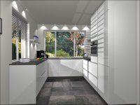 visual 1 - U-Keuken 265x275x307cm, keukenmeubelen, 5 inbouwapparaten, composiet werkblad