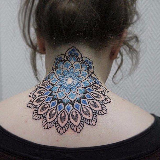 30 Lovely Nape Tattoos For Girls: 17 Best Ideas About Mandala Tattoo Neck On Pinterest