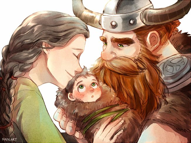 Family ... Drawn by Kadeart0 ... How to train your dragon, hiccup, viking, stoick the vast, stoick, valka