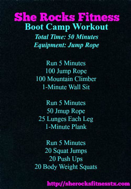 She ROCKS Bootcamp Workout #SexyAbs