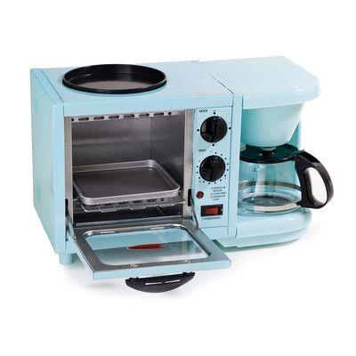 Elite by Maxi-Matic Americana by Elite 3-in-1 Mini Breakfast Shoppe Color: Blue