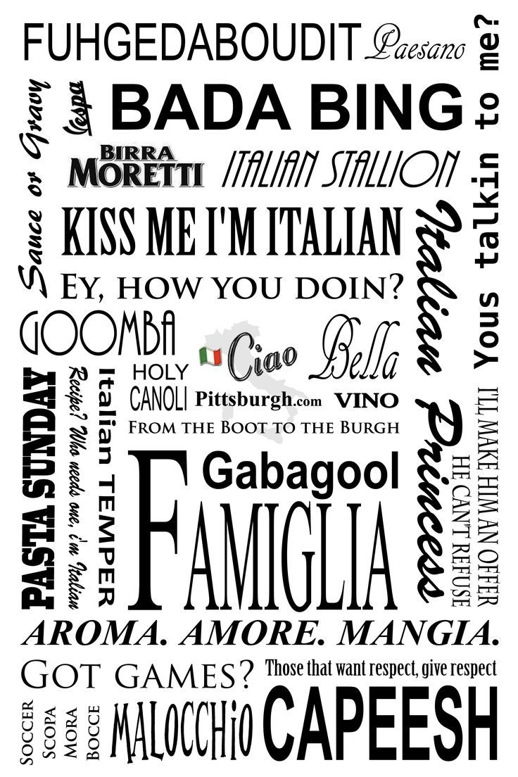 What's your favorite Italian Phrase?