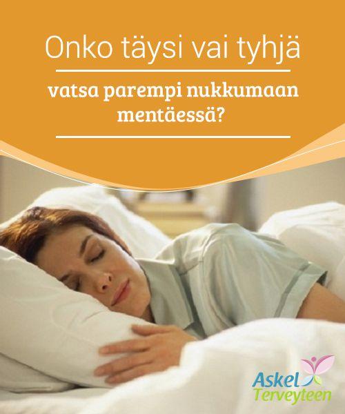 Onko täysi vai tyhjä vatsa parempi nukkumaan mentäessä?   On paljon #ristiriitaisia uskomuksia siitä, tulisiko nukkumaan mennä täydellä vai tyhjällä vatsalla. Kumpikaan #vaihtoehto ei kuitenkaan ole #ihanteellinen.  #Terveellisetelämäntavat