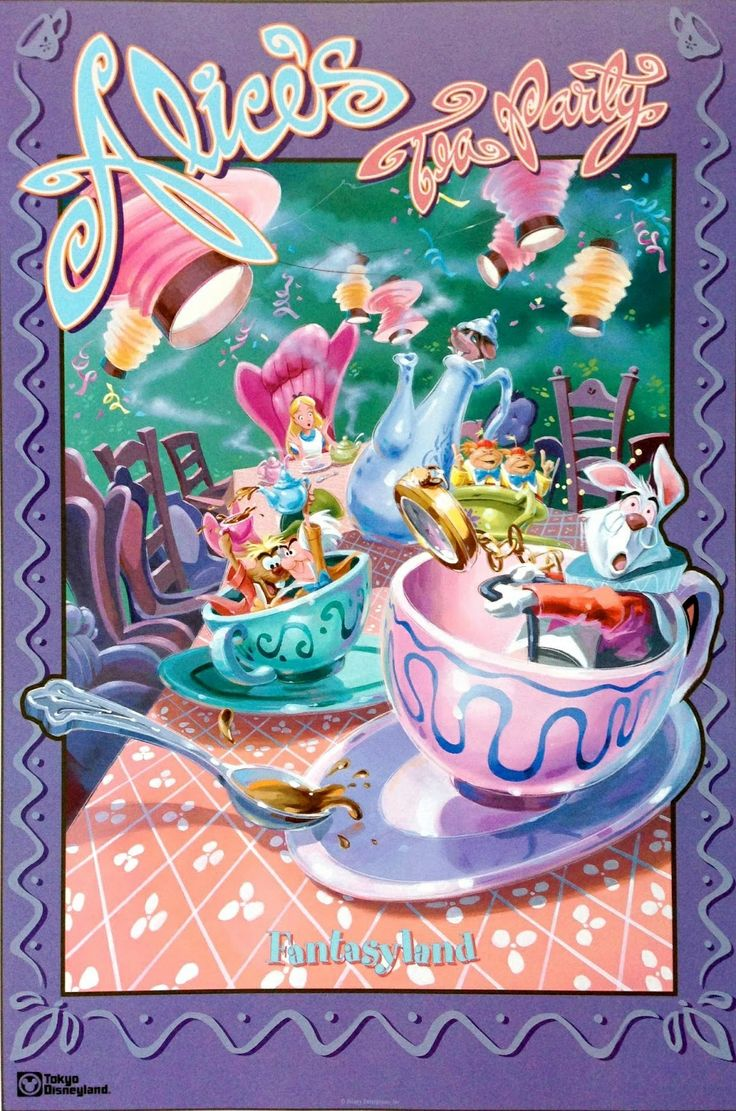 #attraction_poster #TOKYO_DISNEYLAND #FANTASYLAND #Alice_Tea_Party  #東京ディズニーリゾート ポスター