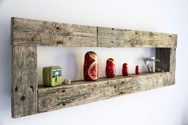 Etagere murale ayannar en bois de palette recycle home for Etagere en palette en bois