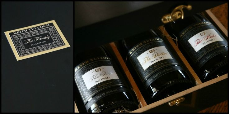 The FAMILY Collection, The Doctor Shiraz, The Kester Shiraz, The Wife Shiraz, each wine made to personify the individual; Keith, Amanda & Harry Tulloch. In a timber gift box with plaque, ready for a sleep in the cellar.