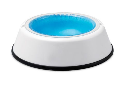 Cooling Pet Bowl - Freeze the insert overnight, and it'll keep their water fresh and cool for up to eight hours.