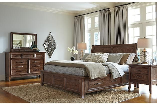 Medium Brown Mardinny Queen Platform Bed View 6 Bedroom