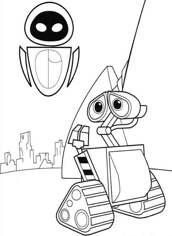 Wall E Online Coloring Pages Printable Book For Kids 3
