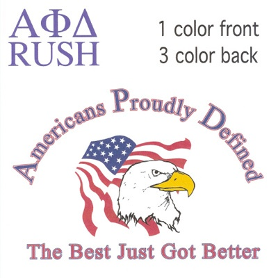 Americans Proudly Defined Fraternity Shirt #Screenprinting #AlphaPhiDelta #FraternityRecruitment #Rush $11.90  http://somethinggreek.com/shop/