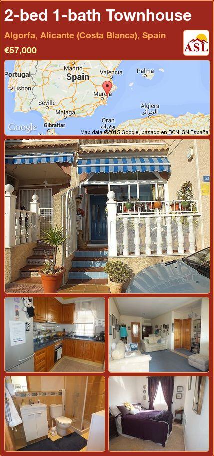 2-bed 1-bath Townhouse in Algorfa, Alicante (Costa Blanca), Spain ►€57,000 #PropertyForSaleInSpain