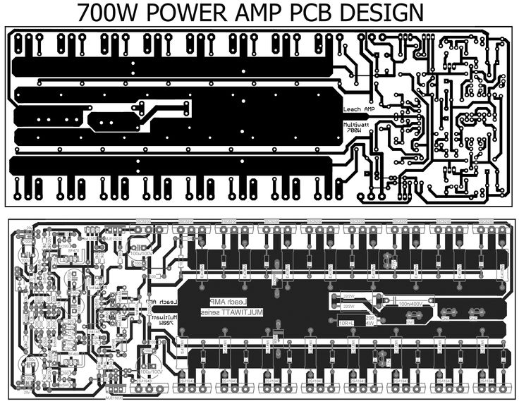 pcb power amplifier 700W