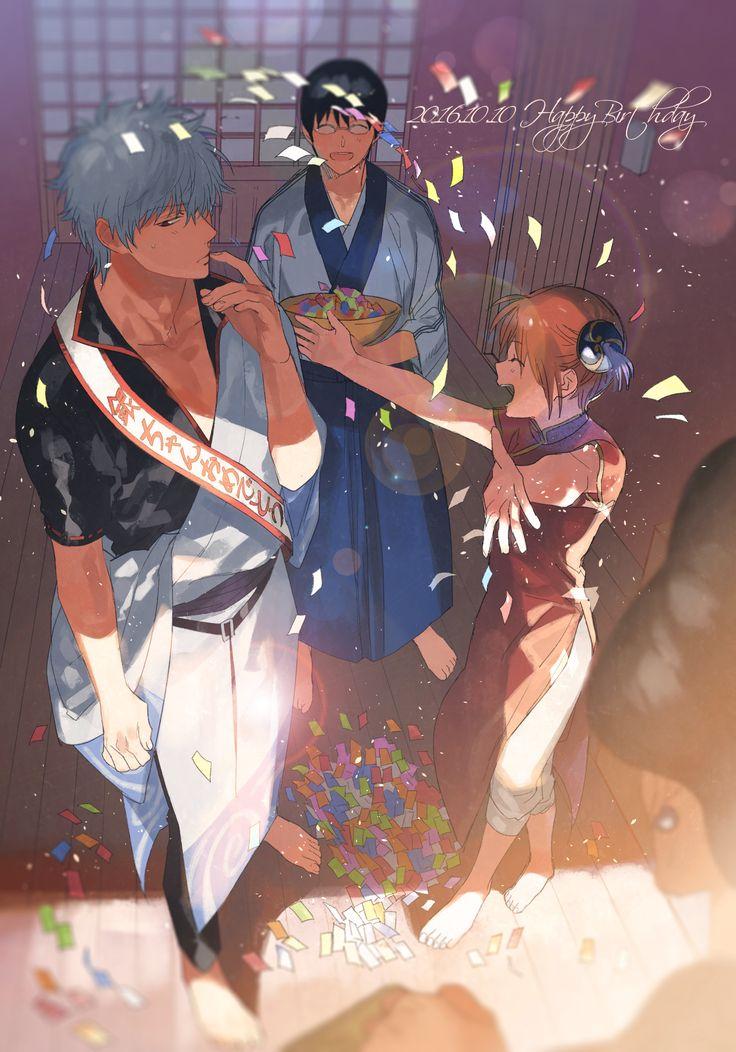 Gintoki, Shinpachi, and Kagura