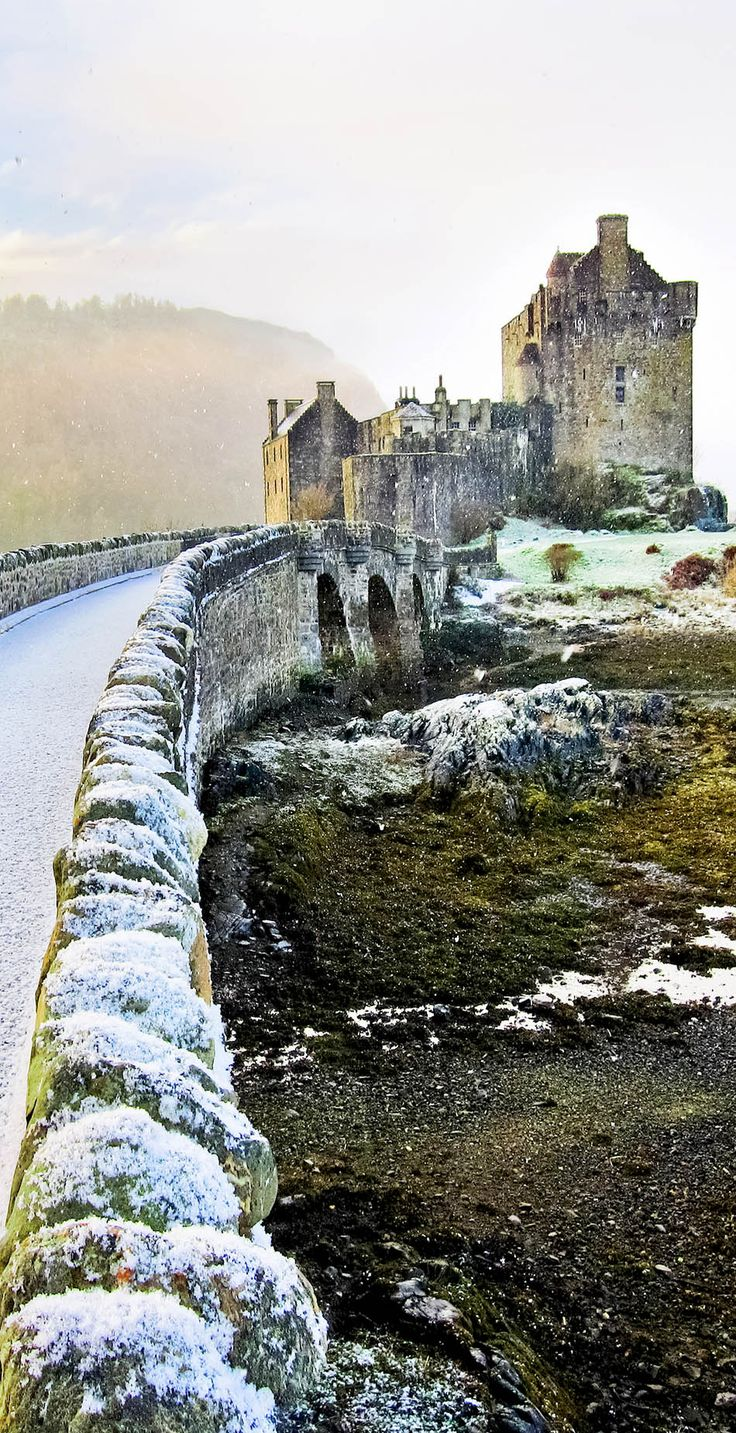 Eilean Donan Castle in winter. Scotland  |   The 20 Most Stunning Fairytale Castles in Winter