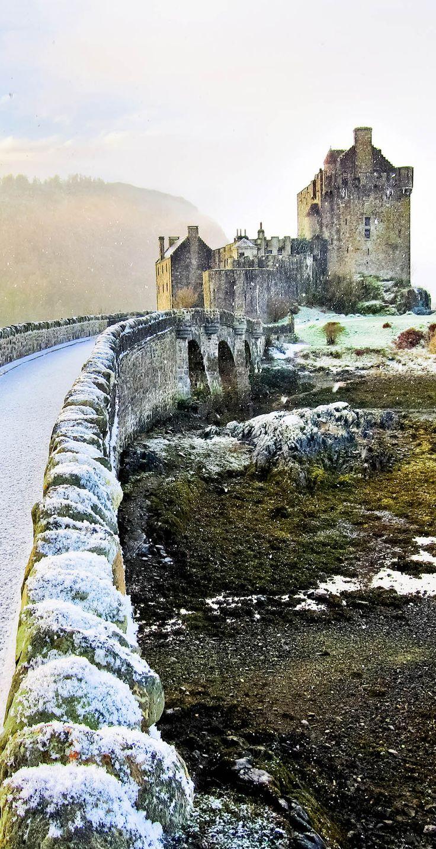 Eilean Donan Castle in winter. Scotland  |   The 20 Most Stunning Fairytale Castles in Winter