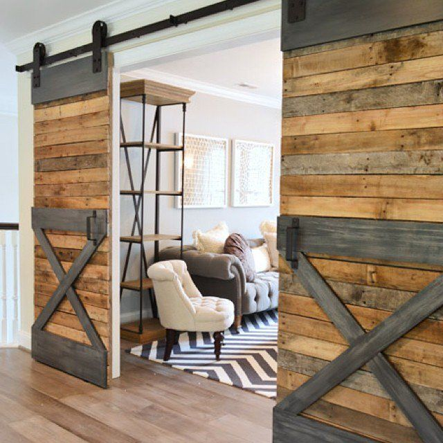 Pin for Later: 11 Ways to Incorporate Barn Doors in Your Home  Metal accents give these doors an industrial edge. Source: Instagram user dejaland