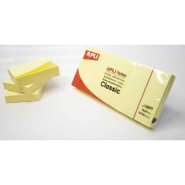 Comprar 3 blocs 100 hojas notas adhesivas apli 10977  #oficina #tienda #notas #indices #adhesivas #colores #rollo #bloc #taco