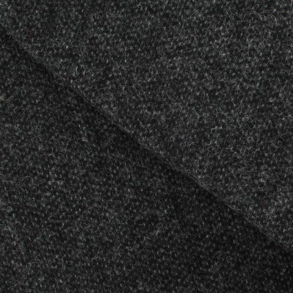 Tissu drap de laine gris chiné x 10cm