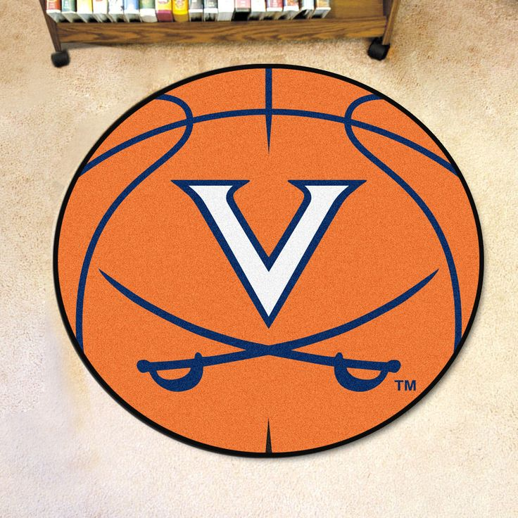 Virginia Cavaliers Basketball Area Rug From Team Sports. Click Now To Shop  College Home Rugs U0026 Flooring.