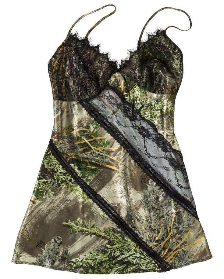 Black Widow Camo Panel Chemise in Realtree for Ladies | Bass Pro Shops #valentinesgifts #lingerie