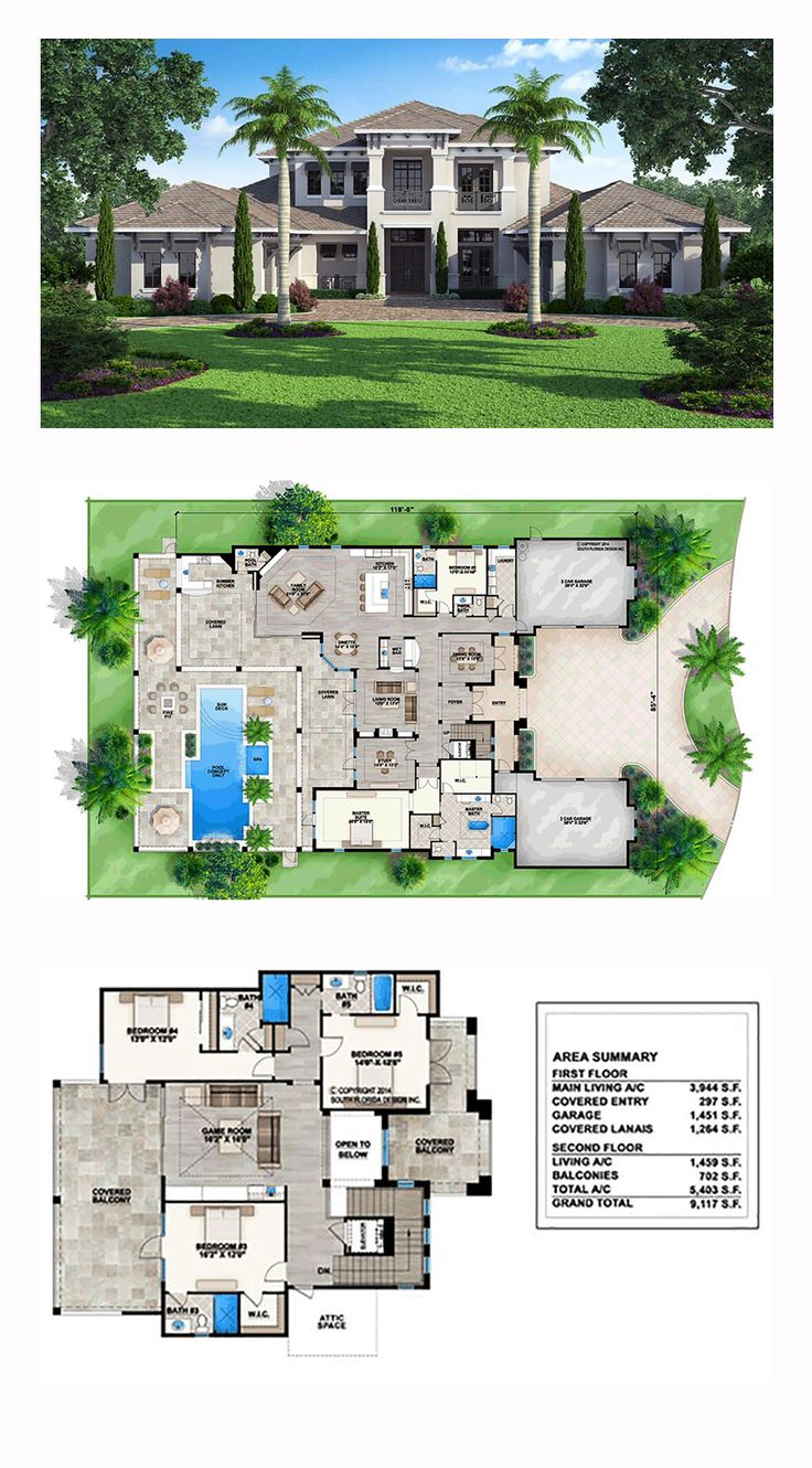 51 best coastal house plans images on pinterest coastal house coastal house plan 52910 total living area 5403 sq ft 5 bedrooms