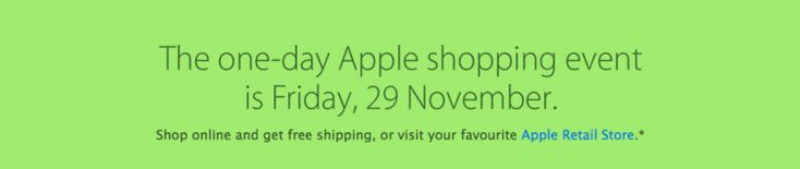 Apple Posts Black Friday 2013 'One-Day Shopping Event' Teaser - http://www.aivanet.com/2013/11/apple-posts-black-friday-2013-one-day-shopping-event-teaser/