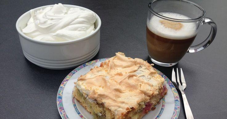 Insas Hexenküche: Rezept: Rhabarberkuchen mit Baiser #insashexenkueche #rhababer #rhababerkuchen # rezept