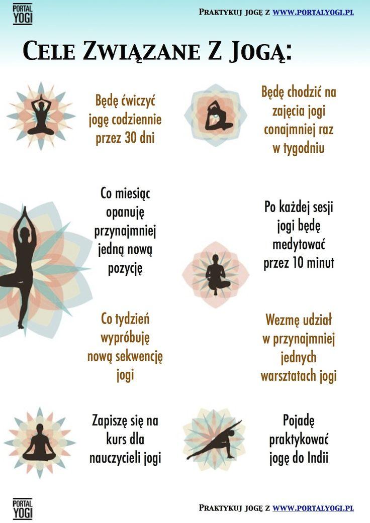 Jeśli planujesz rozwijać się dzięki jodze oto najlepsze pomysły jak postawić sobie cele. Nie tylko na początku roku, ale w każdym momencie, w którym tego potrzebujesz i chcesz. #joga #cele #rozwój