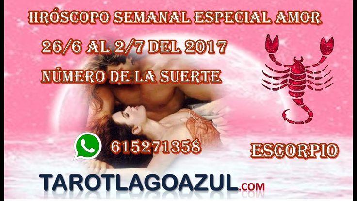 Tarot del amor certero + Horóscopo Escorpio del  26/6  al 2/7 de 2017| t...