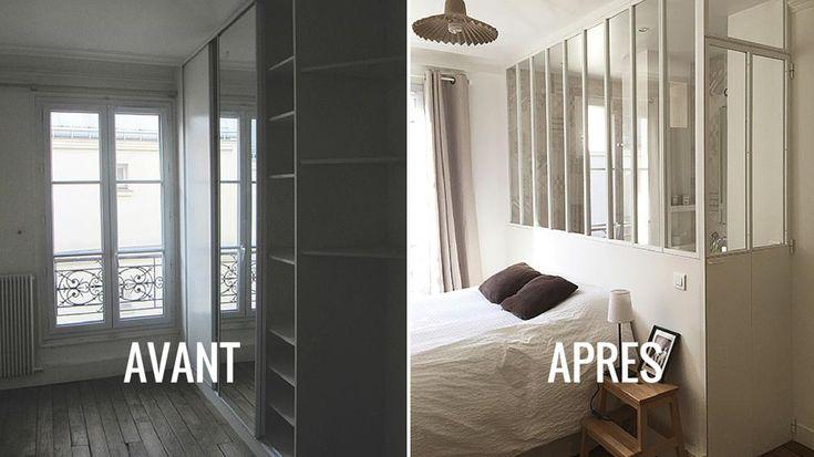 Rénovation d'une chambre avec verrière Estelle Griffe projet Custine