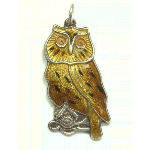 H Prydz enamel owl charm