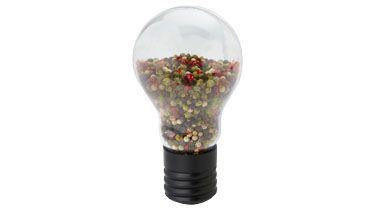 #Molinillo de pimienta con forma bombilla original para #regalos de empresa o #merchandising. Más información sobre el regalo en: http://www.regalodeempresagsr98.es/regalos-merchandising/casa-vida-112630/