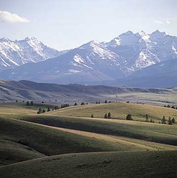 The Bitterroot Valley of Montana - my home valley and the amazing Three Sisters Peaks in the western sky