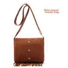 New 2013 Fashion Designer Brand Small Handbags Retro Tassel Female Leather Shoulder Bags Women Messenger Bag Items Totes Brown3
