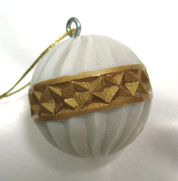 Carved golf ball ornament unique golfer golfing gift idea