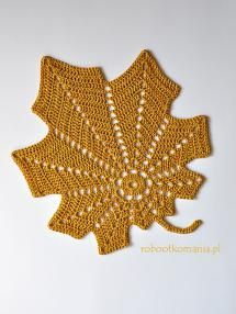 20 FREE Crochet Leaf Patterns for Every Season: Large Autumn Leaf Free Crochet Pattern